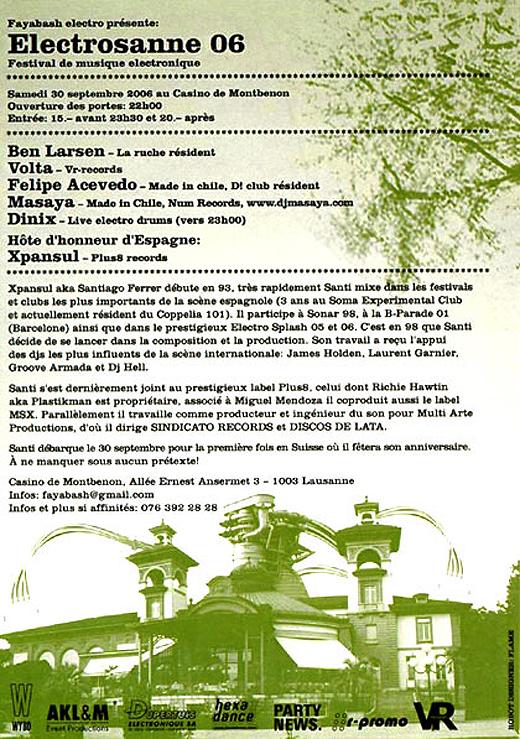 Electrosanne Festival 2006